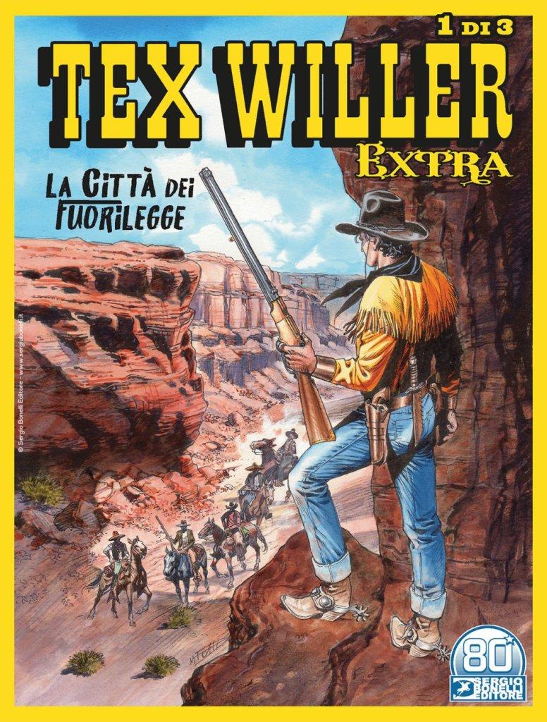 Tex Willer Extra 1 (di 3): La città dei fuorilegge (luglio 2021), copertina di Maurizio Dotti