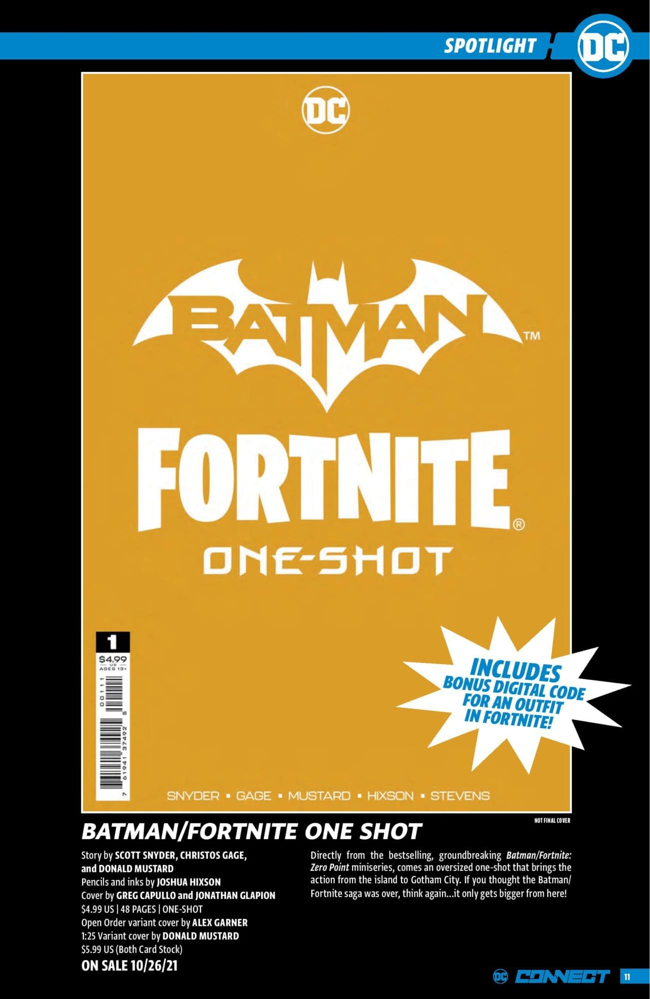 DC Connect, Batman/Fortnite teaser