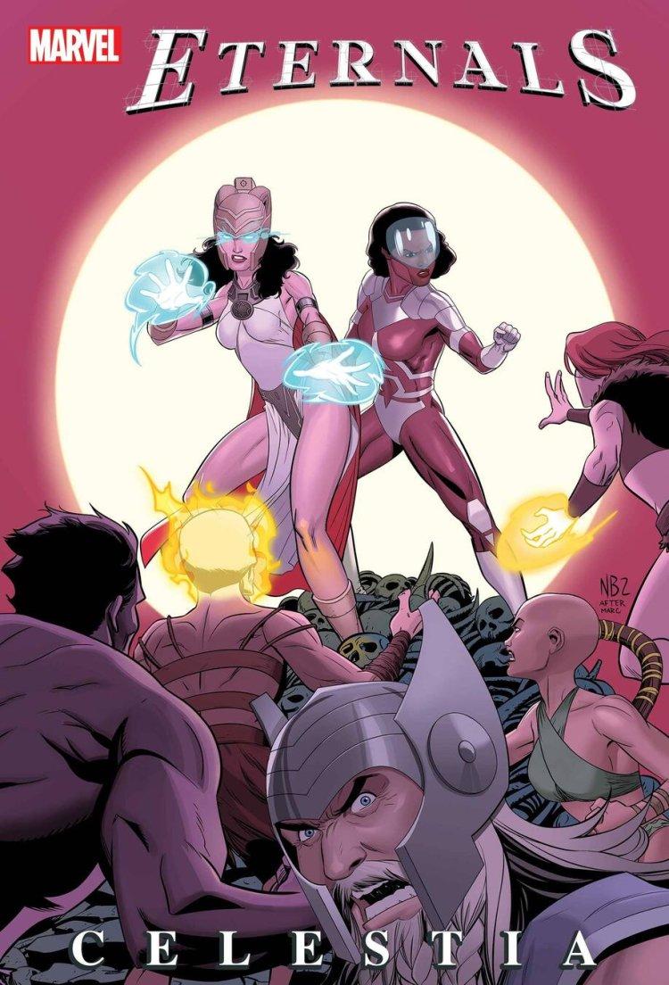 Avengers: Celestia, variant cover di Nelson Blake II
