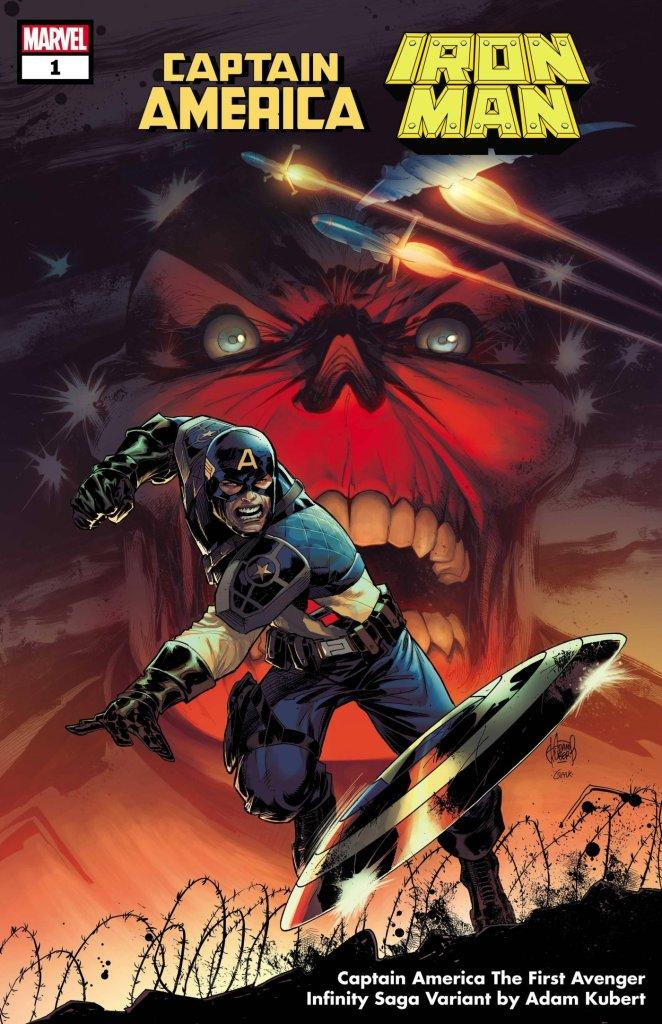 Captain America/Iron Man #1, variant cover di Adam Kubert