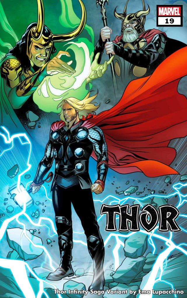 Thor #19, variant cover di Ema Lupacchino