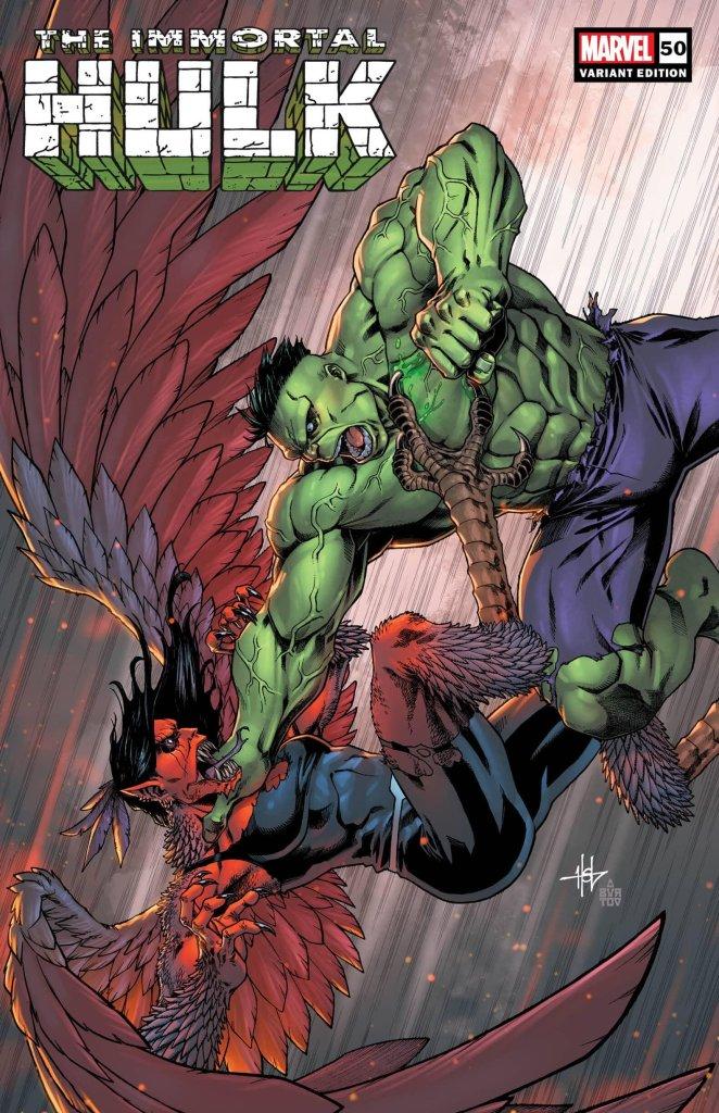 Immortal Hulk #50, variant cover di Creess Lee