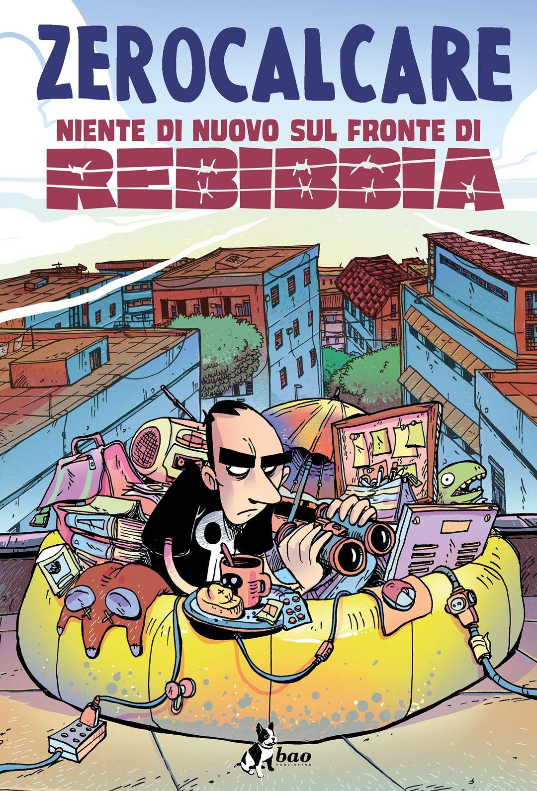 Niente di nuovo sul fronte di Rebibbia, copertina di Zerocalcare