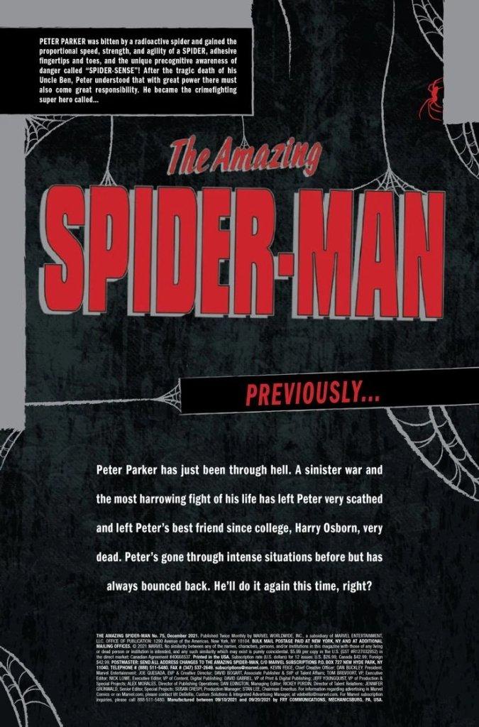 Amazing Spider-Man #75, intro