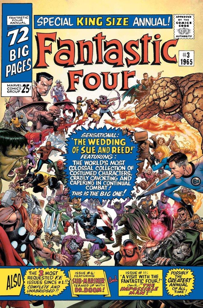 Fantastic Four: Anniversary Tribute' #1, variant cover di Jim Cheung