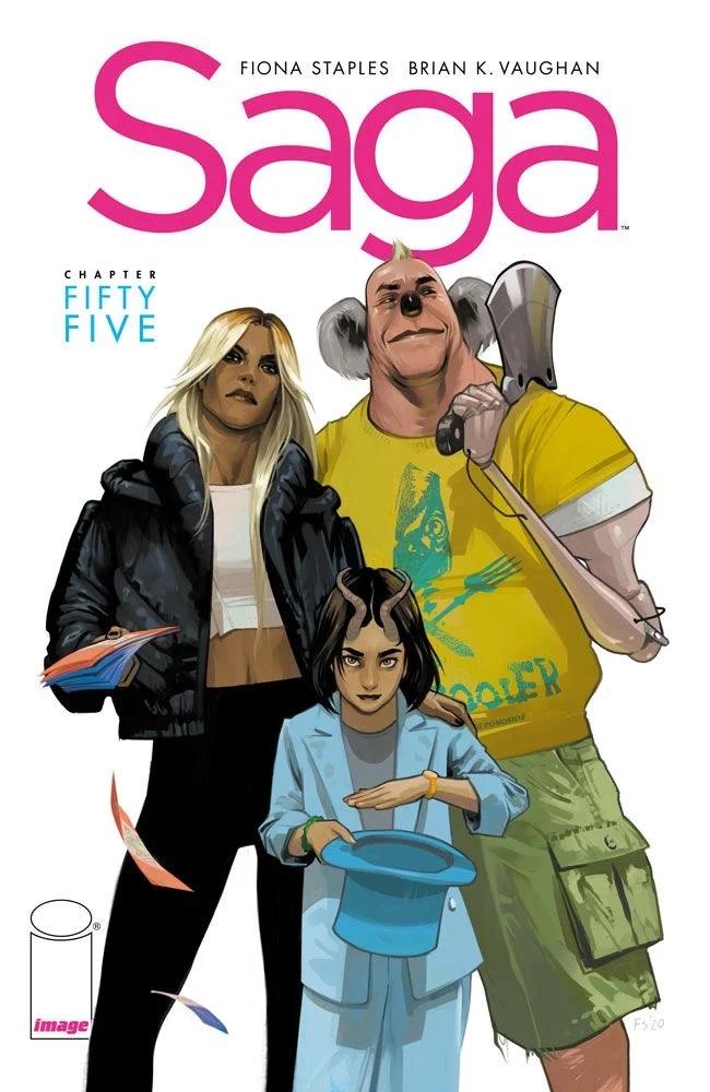 Saga #55, copertina di Fiona Staples