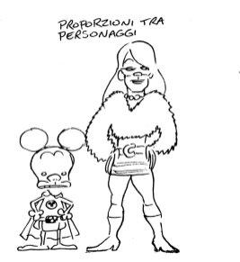 Bozzetto Rat-Man e Cinzia