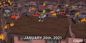 Washington scontri i Simpson avevano previsto violenze