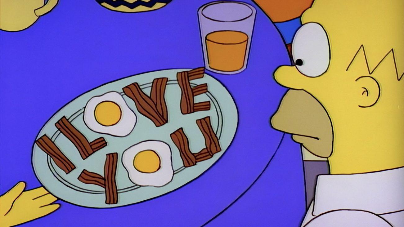 simpson love you bacon