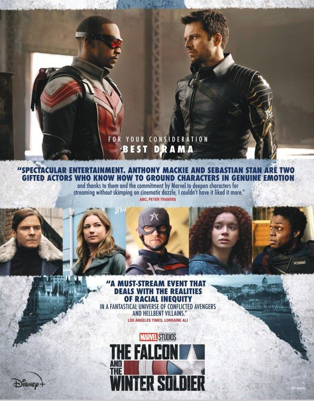 The Falcon and the Winter Soldier i poster delle candidature agli Emmy