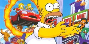 The Simpsons Hit and Run banner