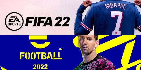 FIFA 22 v eFootball banner