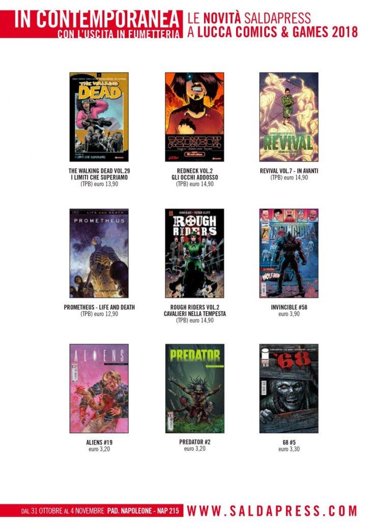 SaldaPress a Lucca Comics & Games 2018