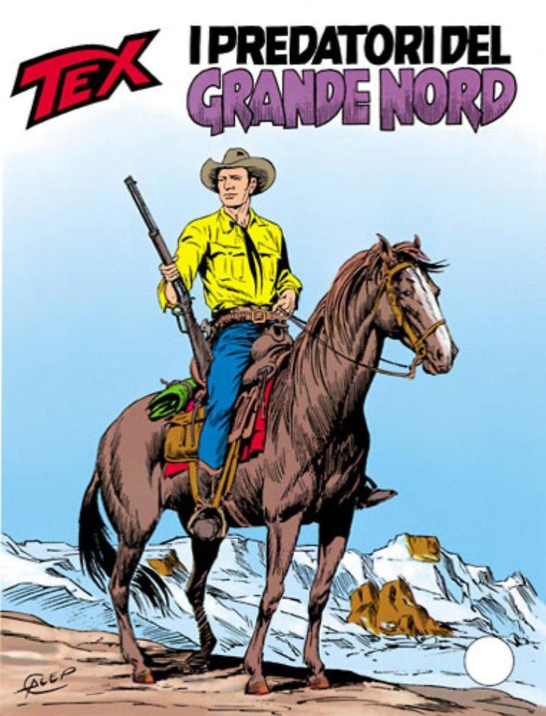 Tex 346: I predatori del Grande Nord, copertina di Aurelio Gelleppini