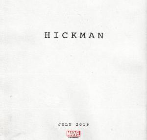 Annuncio Jonathan Hickman, Luglio 2019