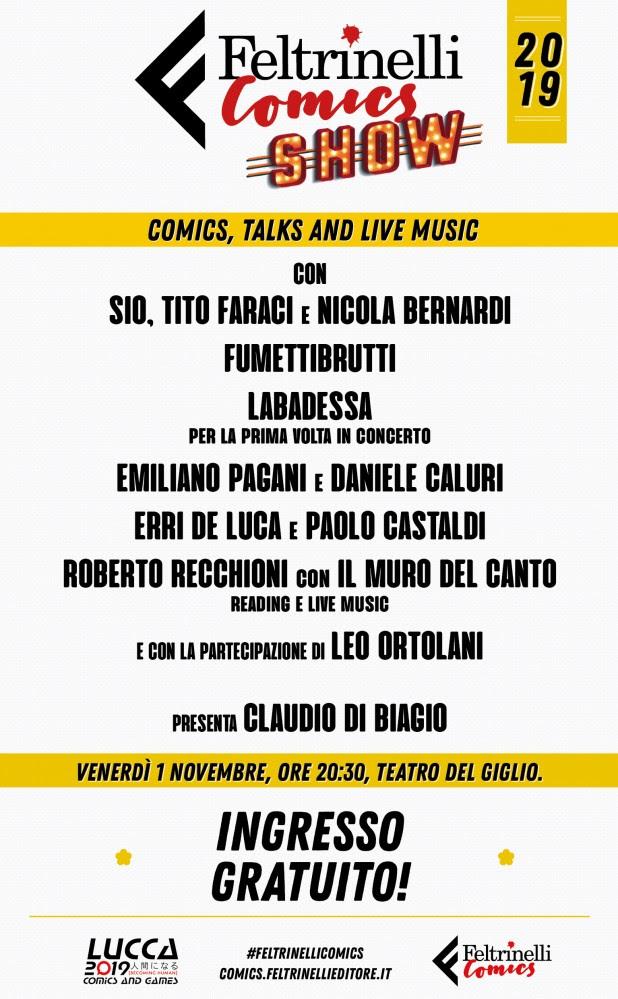 Feltrinelli Comics Show a Lucca Comics & Games 2019
