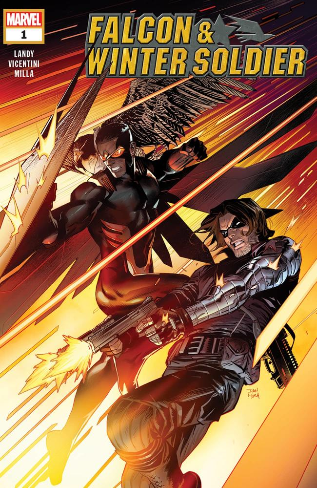 Falcon/Winter Soldier #1, copertina di Dan Mora