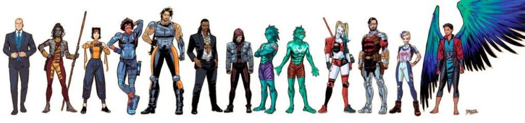 Suicide Squad, character design di Bruno Redondo
