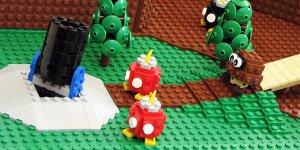 Primo livello Super Mario 64 con i LEGO banner