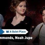 EXCL – A Quiet Place, il nostro incontro con i piccoli Millicent Simmonds e Noah Jupe!