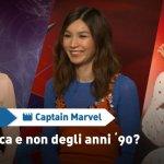 """EXCL – Captain Marvel: """"Cosa vi manca e cosa non vi manca degli anni '90?"""", le risposte del cast!"""