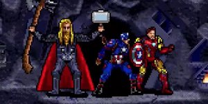 Avengers: Endgame, l'intera battaglia finale ricreata in un video in 16-bit