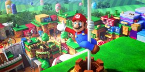Super Nintendo World banner