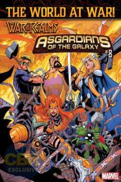 Asgardians of the Galaxy #8, copertina di Gerardo Sandoval