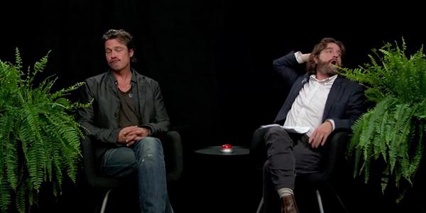 L'esilarante intervista di Zach Galifianakis a Brad Pitt a Between Two Ferns