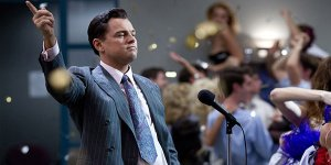 Wolf of wall street Leonardo DiCaprio banner