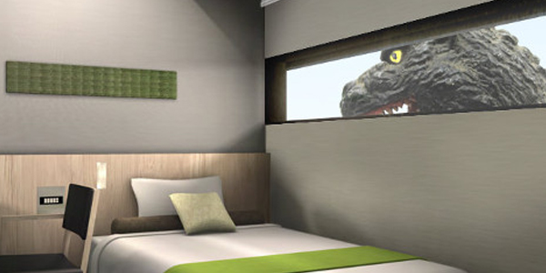 Il Video Tour Dell 39 Hotel Giapponese Ispirato A Godzilla