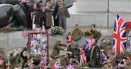 Wonder Woman: Diana Prince celebra l'armistizio a Trafalgar Square nelle foto dal set!
