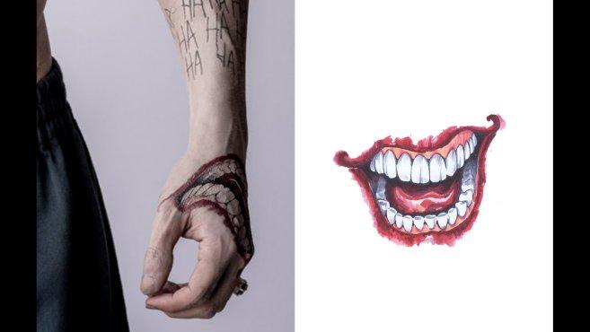 Famoso Suicide Squad: uno sguardo dettagliato ai tatuaggi del Joker  IS53