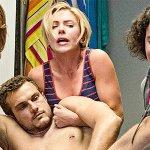 Crazy Night: Festa col morto, Scarlett Johansson nel poster della commedia
