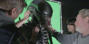 Alien: Covenant, l'animatronic dello xenomorfo in un nuovo video dal backstage