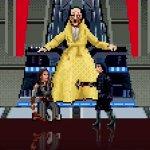 Star Wars: Gli Ultimi Jedi, lo scontro nella sala del trono di Snoke ricreato in versione 16-bit