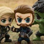 Avengers: Infinity War, ecco le figure Cosbaby di Cap, Vedova Nera, Loki e altri supereroi