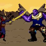 Avengers: Infinity War, i Vendicatori contro Thanos in una scena ricreata in 16 Bit