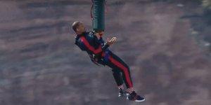 Will Smith festeggia i suoi 50 anni facendo bungee jumping da un elicottero