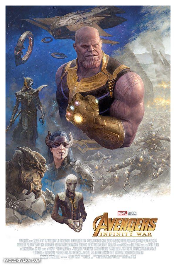 Avengers: Infinity War - Illustrazione di Paolo Rivera