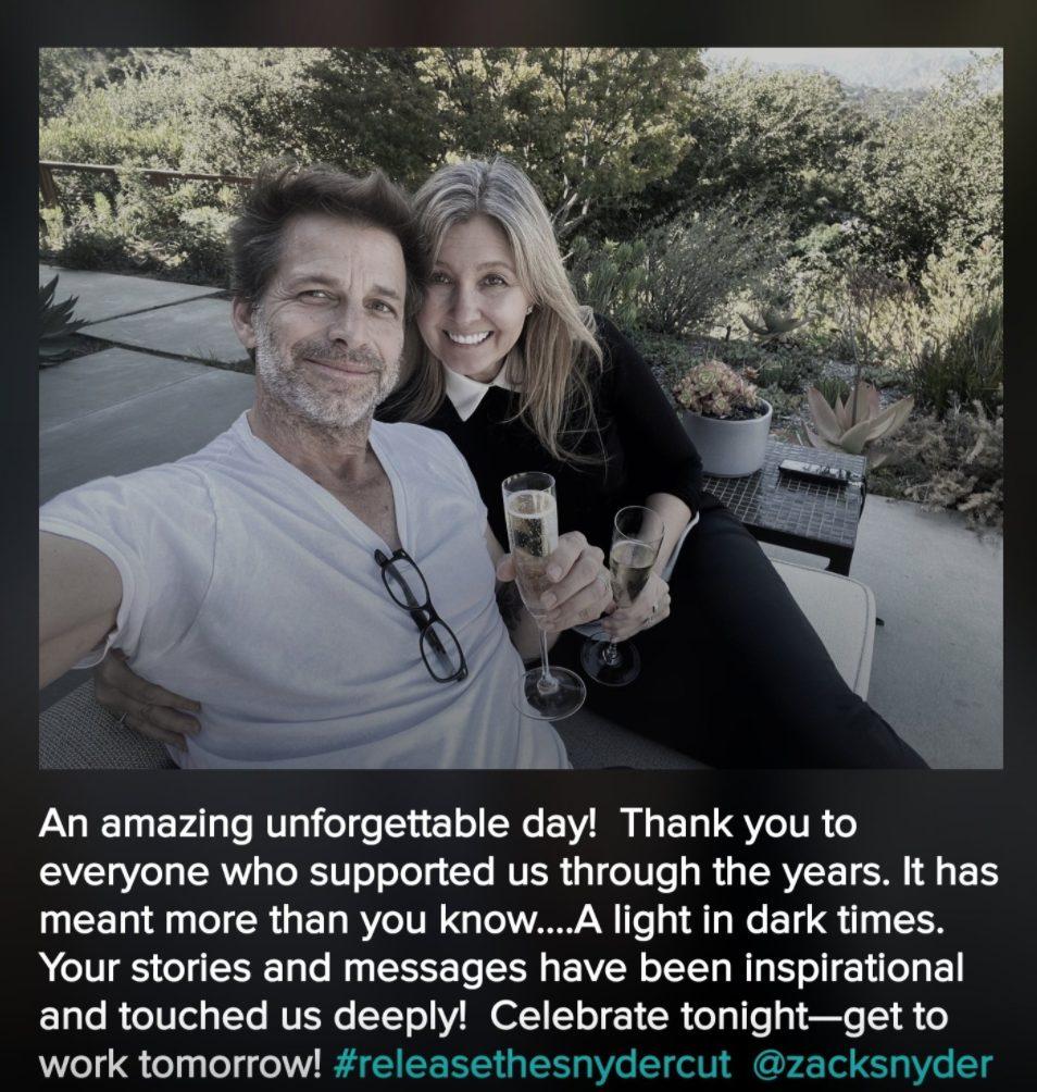 ringraziamento Deborah Snyder