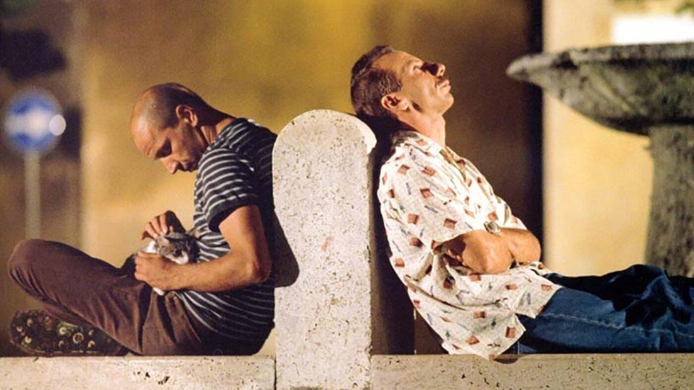 tre uomini e una gamba fontana
