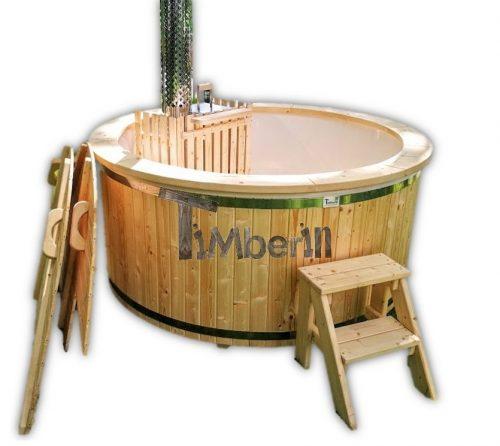 Badtunna i glasfiber med intern kamin 180 cm 1800 - TimberIN