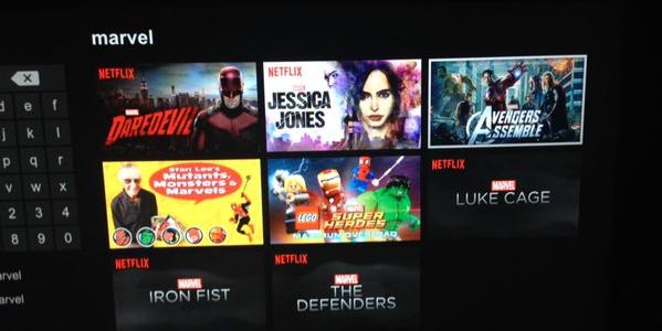 Netflix interfaccia Marvel