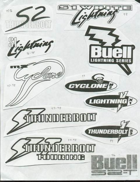 Buell Motorcycle Forum: Old School Buell Graphics