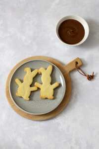 Osterhasen Plätzchen mit Nougat | bäckerina.de