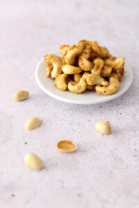 Snack Rezept süß-scharfe Cashews | bäckerina.de