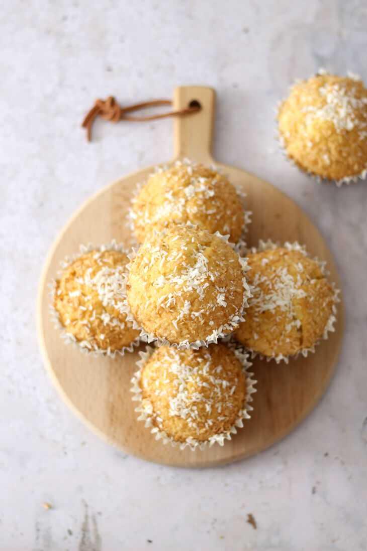 Kokosmuffins Rezept   bäckerina.de
