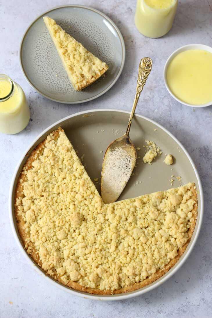 Puddingkuchen mit Streuseln Rezept   bäckerina.de
