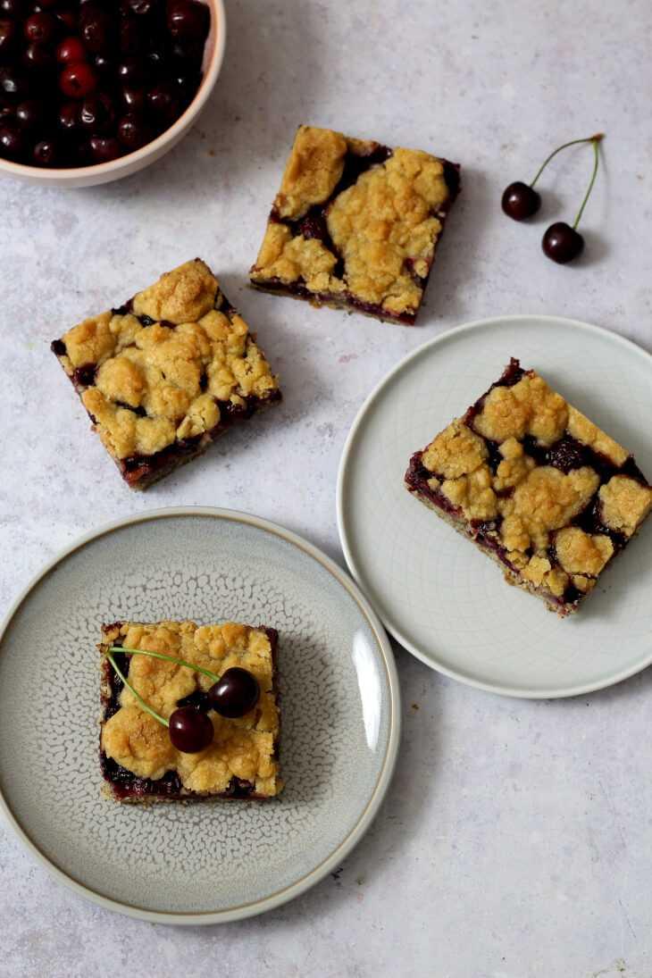 Kirsch Mohn Kuchen mit Streuseln | bäckerina.de